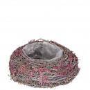 Plant bowl Kelly, D24cm, H10cm, burgundy